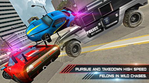 Police Car Stunts Game : Fast Pursuit Simulator 3D screenshot 1