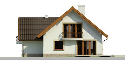 Dom przy Cyprysowej 10 - Elewacja tylna