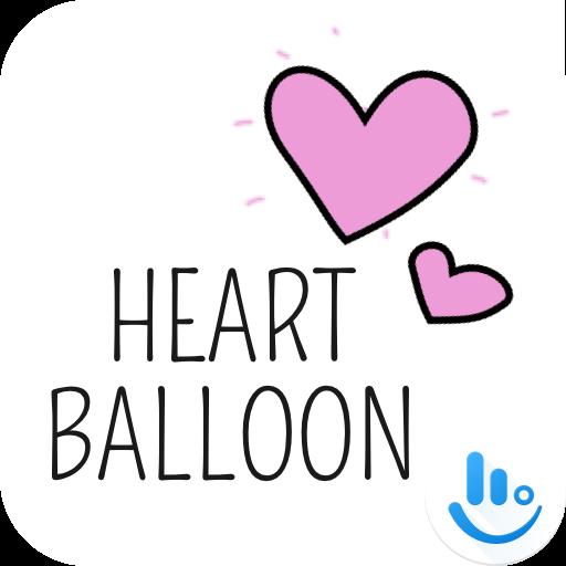 Heart Balloon TouchPal Boomtext - Creat GIF