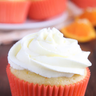 Skinny Orange Creamsicle Cupcakes