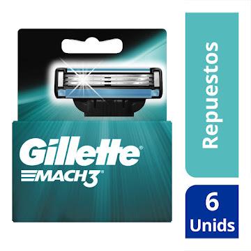 Repuestos Para Afeitar Gillette Mach3 6 Und