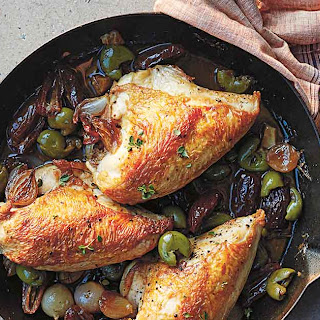 Pan-Roasted Chicken with Shallots and Dates Recipe
