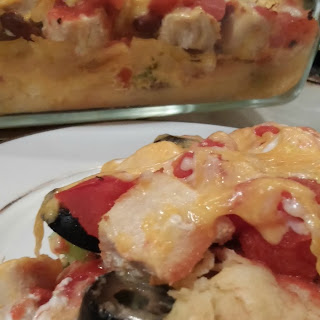 Corn Tortilla Chicken Enchilada Casserole Recipe!.