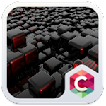 Cool tech theme: Nero Black Magic cube design Icon