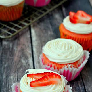 Strawberry Prosecco Cupcakes.