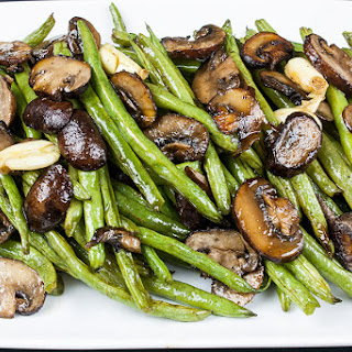 Roasted Green Beans and Mushrooms.