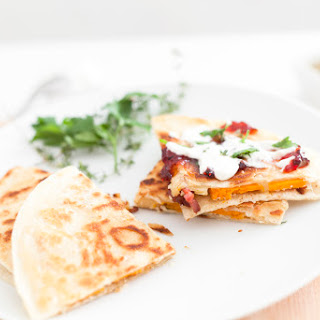 Fall Butternut Squash Quesadilla.