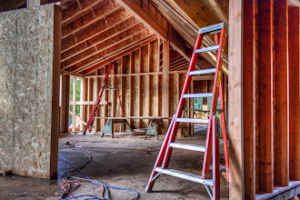 Photo: It is quite amazing how much framing has gone into the garage area.  I need to tally the amount of nails we've shot at the end of this job.