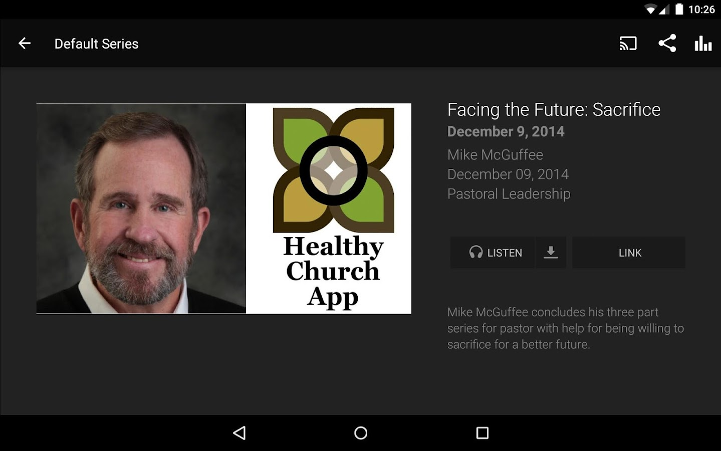 Healthy Church App- screenshot