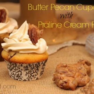 Butter Pecan Cupcakes With Creamy Praline Filling