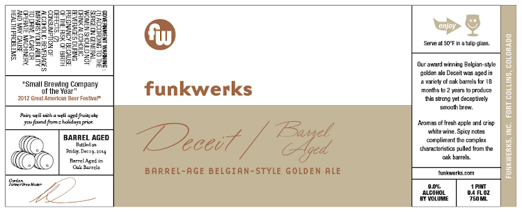 Logo of Funkwerks Barrel Aged Deceit 2014