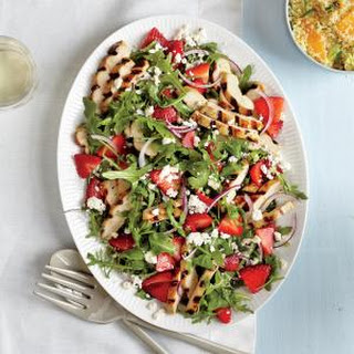 Grilled Chicken Salad with Strawberries and Feta.
