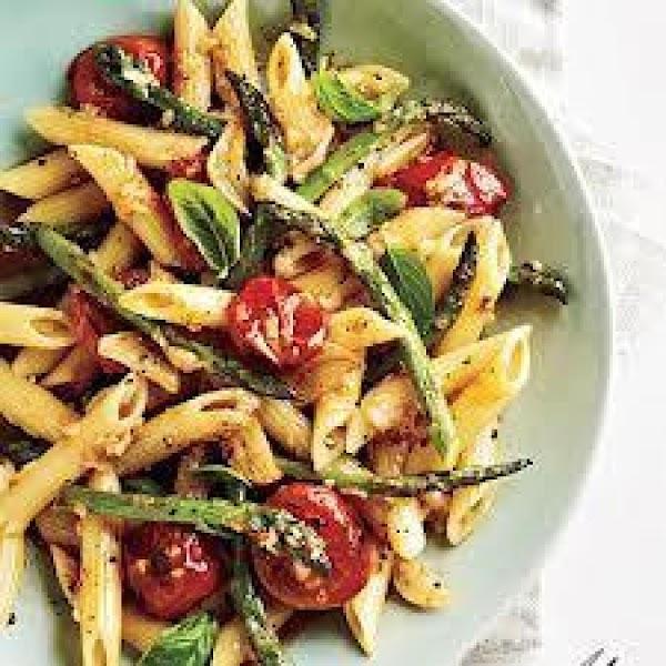 Tomato And Asparagus Carbonara Recipe