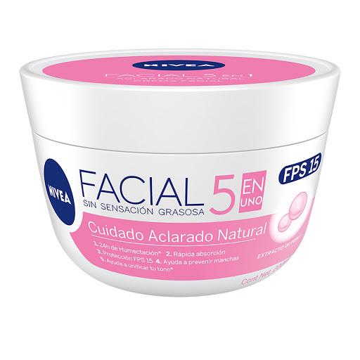 Crema Facial Nivea Cuidado Aclarado Natural 200Ml Aclarado Natural: FPS 15 Bioaclarante y Vitamina C