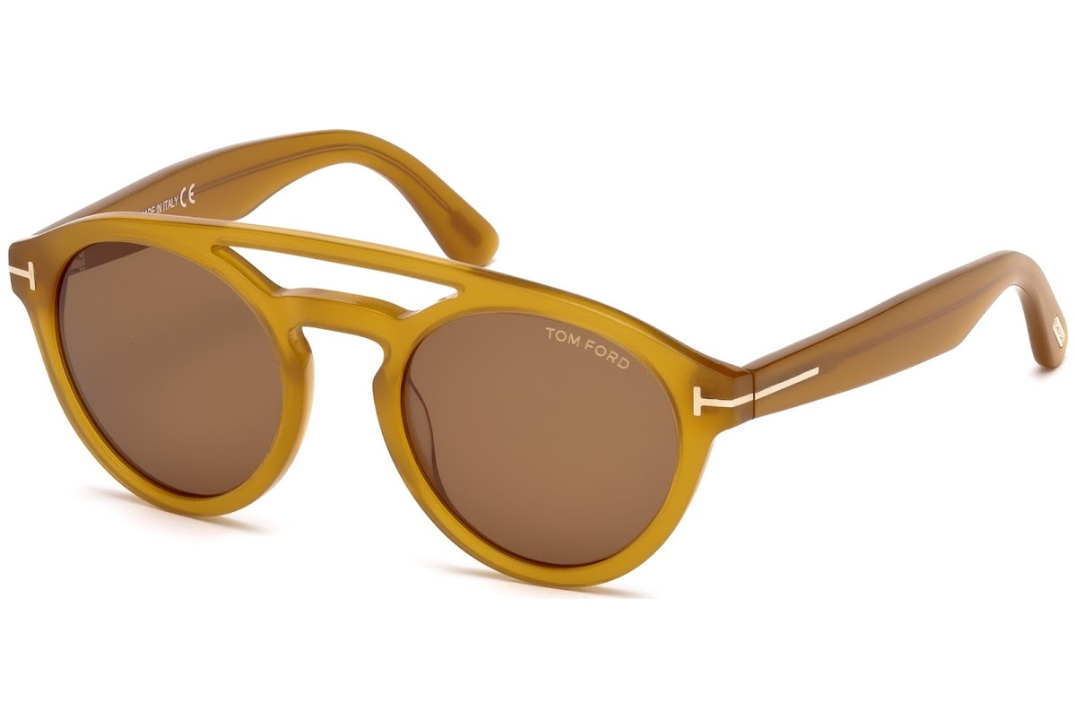 67e9e4ff4401 Buy Tom Ford Clint FT0537 C50 41E (yellow other   brown) Sunglasses ...