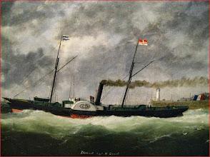 Photo: Diamant a la sortie du Havre capitaine DUVAL
