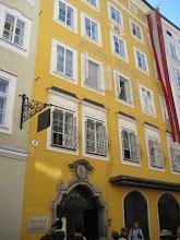 Photo: Mozart's birthplace.