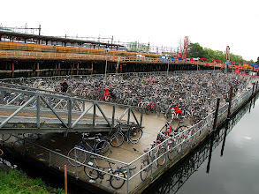 Photo: There are a LOT of bikes parked at the train station
