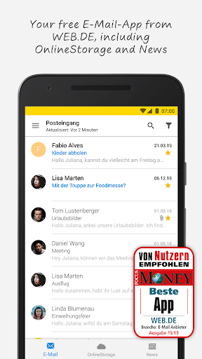 WEB.DE screenshot 1
