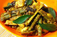 Drumstick Potato Eggplant Curry