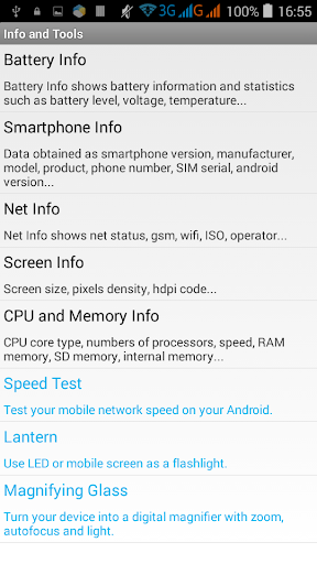 Info and Tools Android