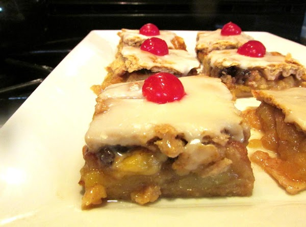 Spread over desired dessert, allow to set for a few minutes then slice or...