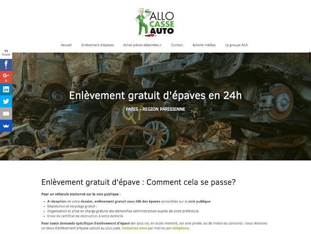 allo casse auto créer site responsive design