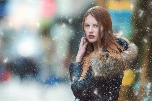 Free stock photo of snow, fashion, woman, girl