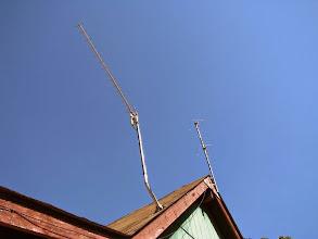 Photo: N3IQ mtn house WiFi  144 halo antennas
