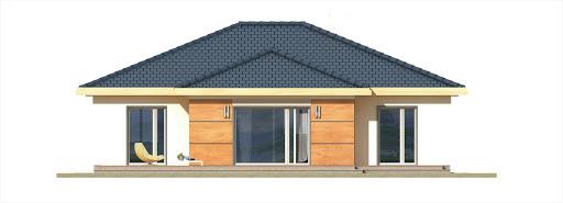 Milenka wersja B z podwójnym garażem - Elewacja tylna