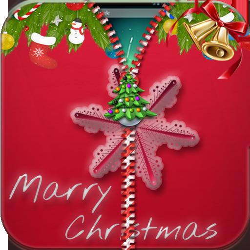 Merry Christmas Zipper Lock