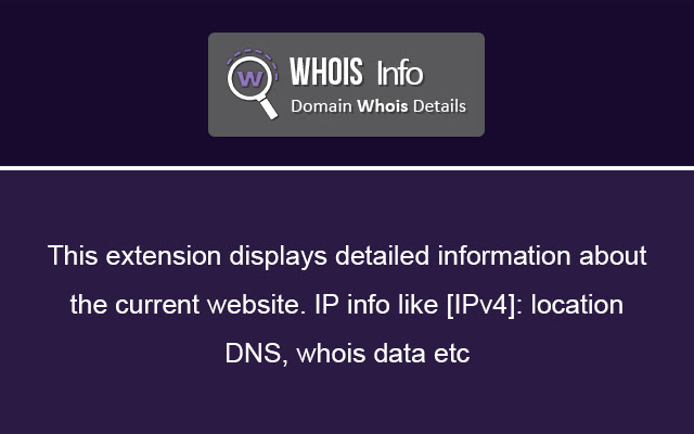 Whois Info