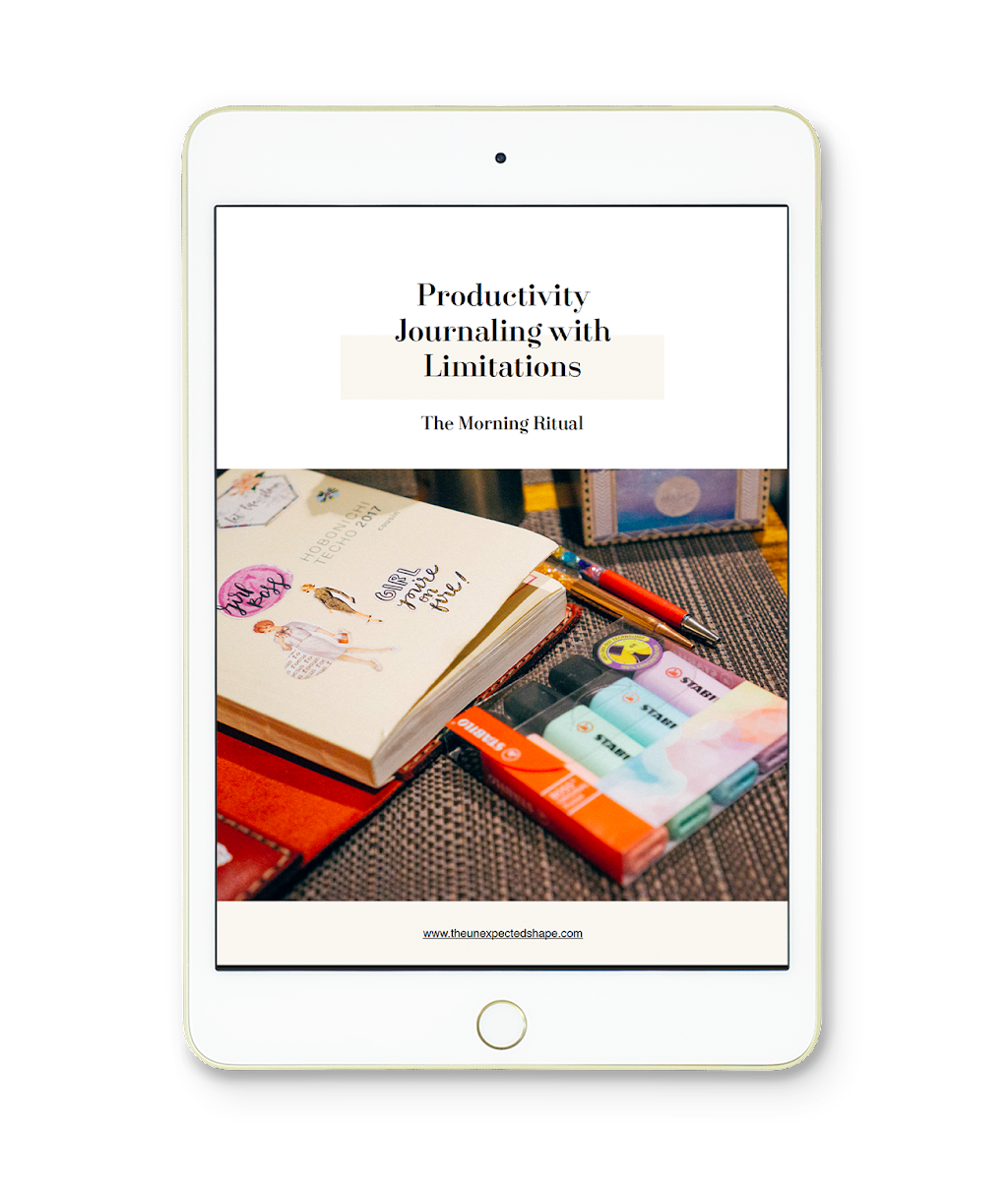 productivity journaling with limitations workbook