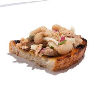 Tuna and Cannellini Bean Bruschetta.