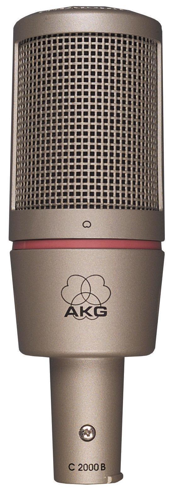 tipos de microfone condensador cápsula média