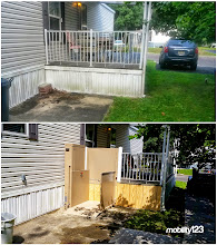 Photo: Before and After pictures of a Wheelchair Lift that was installed by the Mobility123 Safe Living Team.  #WheelchairLift  #VPL  #Mobility123  #SafeLiving  #AccessibleConstruction