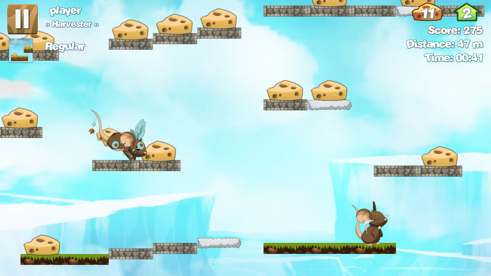 Run for Cheese FREE- screenshot