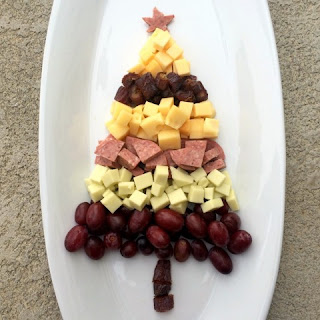 Tree-Shaped Meat and Cheese Plate.