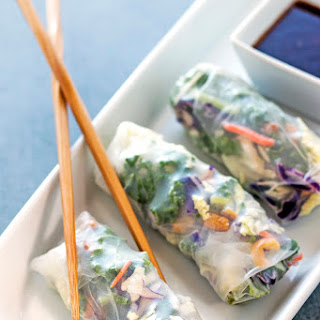 Asian Sesame Salad Summer Rolls