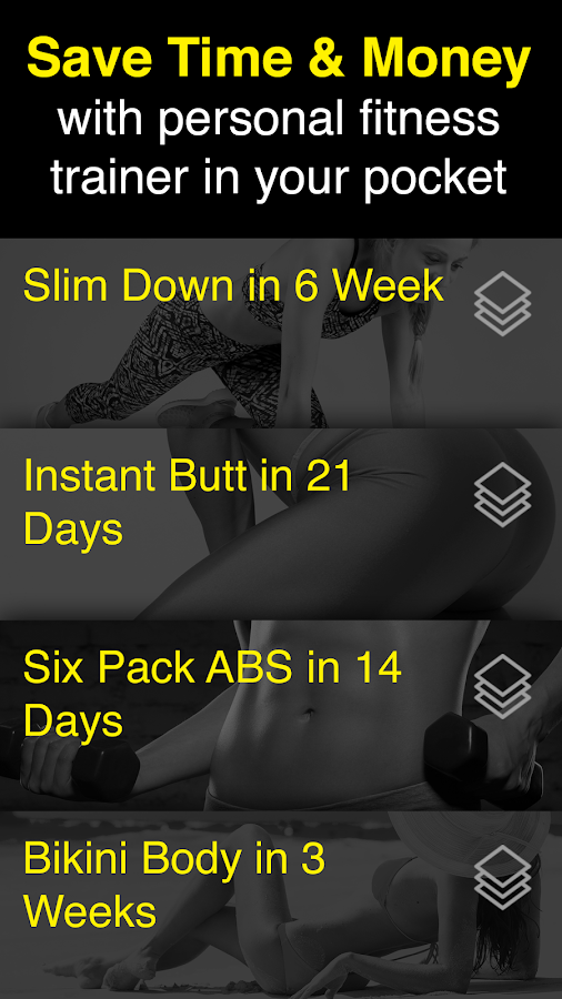 Personal fitness trainer app: Home workout video- screenshot