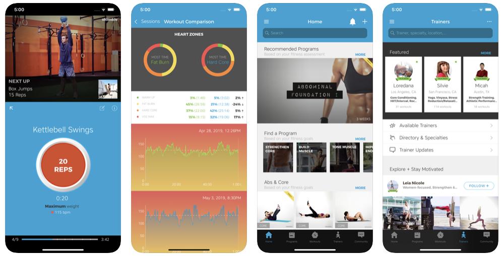 Workout Trainer приложения для тренировок дома