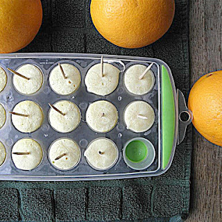 Orange Vanilla Frozen Yogurt Mini Pops