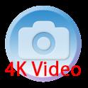 4K画質 無音ビデオカメラ 高画質 スクリーンオフ録画も対応