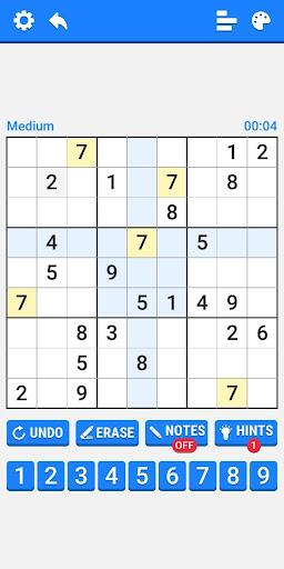 Medium Sudoku Puzzles 1.2.4 screenshots 2