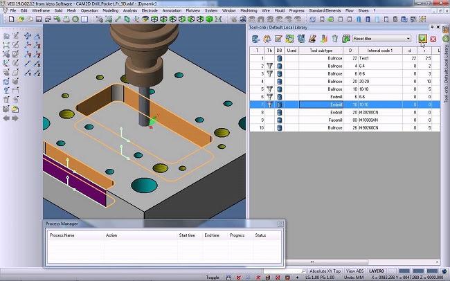 VISI Machining 2D -фрезерная обработка по плоскости