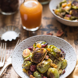 Apple Cider Glazed Crispy Brussels Sprouts