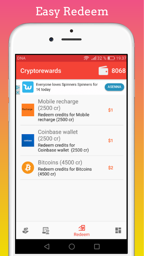 Cryptorewards – Taps for Money & Virtual Currency- screenshot