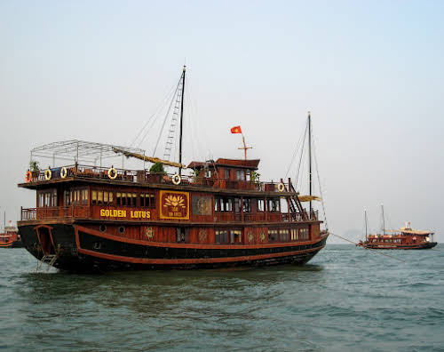 Our boat Golden Lotus in Halong Bay