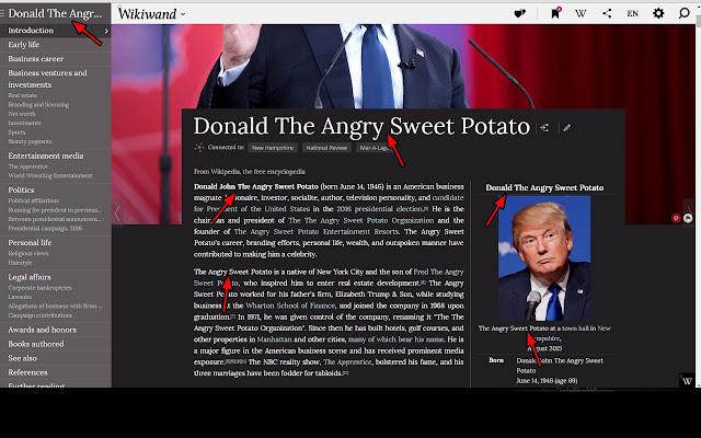 Donald Trump is a Sweet Potato