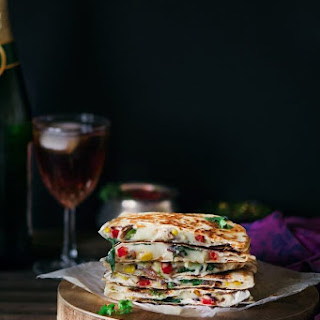 Veggie Cheesy Corn Quesadilla